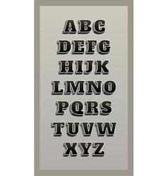 retro font vintage alphabet vector image