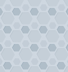 Seamless Hexagon Patterned Background vector image