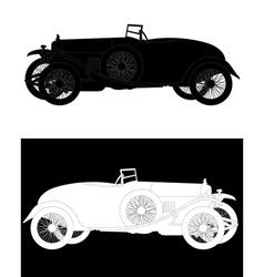 silhouette of a retro car vector image