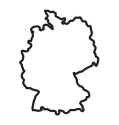 Simplified germany deutschland map outline vector