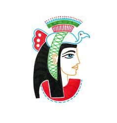 Sketch marker drawing of egyptian goddess vector