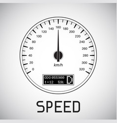 Speedometer speed outline icon vector