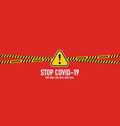 Stop covid-19 coronavirus quarantine concept vector