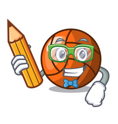 student volleyball character cartoon style vector image
