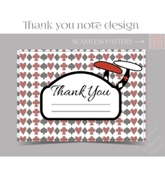 Thank you Note - Mushroom from Wonderland vector image