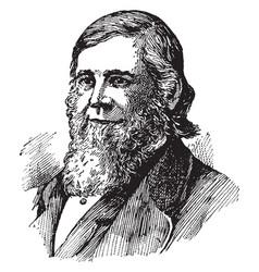 Theodore william dwight vintage vector