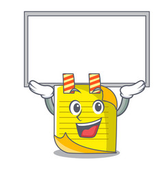 Up board note paper character cartoon vector