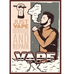 Vaping Vintage Poster vector