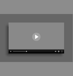 video multimedia player mockup template design vector image