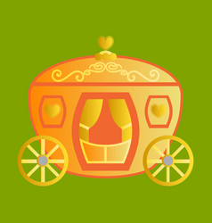 Vintage horse carriage with florid ornament vector
