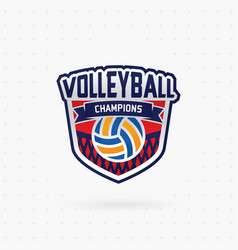 Volleyball championship emblem vector