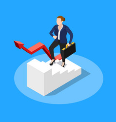 Walking upstairs business concept vector