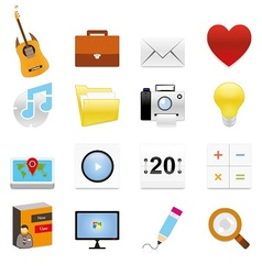 Web icons 11 vector image