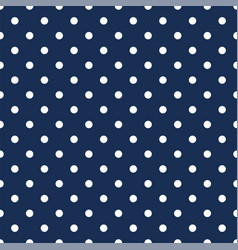 White polka dots on navy blue background vector