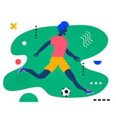 young man running a sport lifefootball players vector image