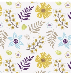 floral wallpaper print vector image vector image