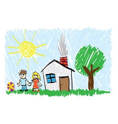 Childs painting vector image vector image