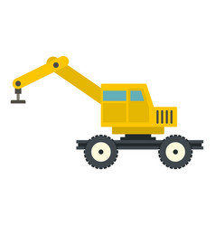 crane truck icon isolated vector image vector image