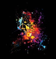 rainbow dribble splat vector image vector image