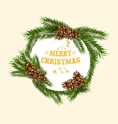 round christmas background vector image vector image