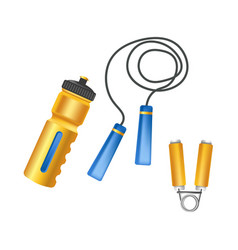 convenient plastic bottle long jump rope and vector image