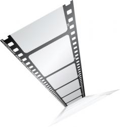 film from the top vector image vector image