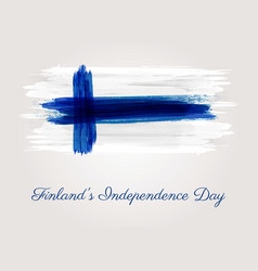 Finlands independence day vector
