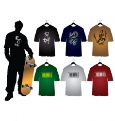 Men's t-shirts vector image