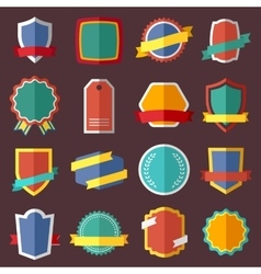 Set of retro vintage labels signs and badges vector image vector image
