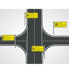Abstract Road And Street Business Infographic vector image