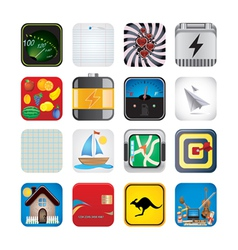 app set of icons vector image