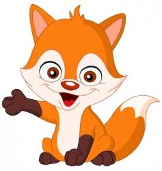 baby fox vector image vector image