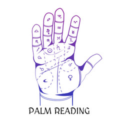 chiromancy design concept with human palm vector image