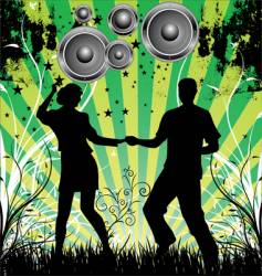 dance grunge background vector image