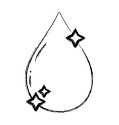 figure nice water drop with stars design vector image vector image
