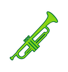 musical instrument trumpet sign lemon vector image