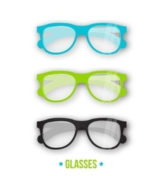 Office style glasses in different styles Hipster vector image