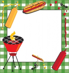 picnic and bbq invitation vector image vector image
