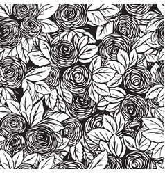 seamless pattern in roses vector image