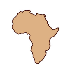 africa map isolated icon vector image