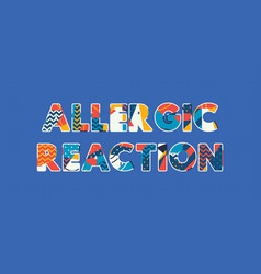 Allergic reaction concept word art vector
