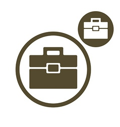 Briefcase simple single color icon isolated on vector image