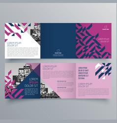 brochure design 812 vector image