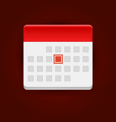 Calendar icon on dark background vector