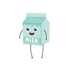 cardboard box with milk vector image
