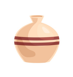 Ceramic vase with rounded sides empty volumetric vector