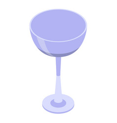 Champagne coupe icon isometric style vector
