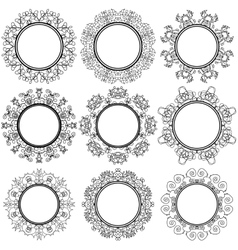 Circle Geometric Ornaments Emblems and Badges vector image