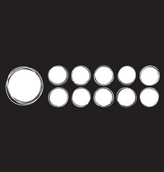 circles doodle sketch hand drawn lines and round vector image