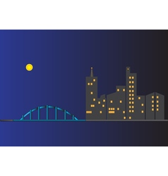 Cityscape at nighttime vector